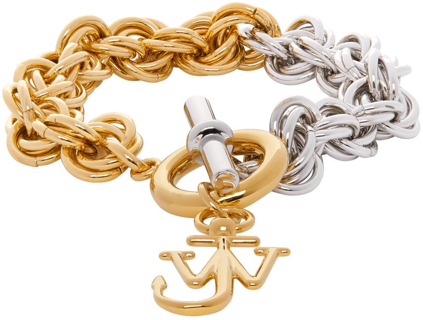 JW Anderson 银色 & 金色 Multi-Links 手链