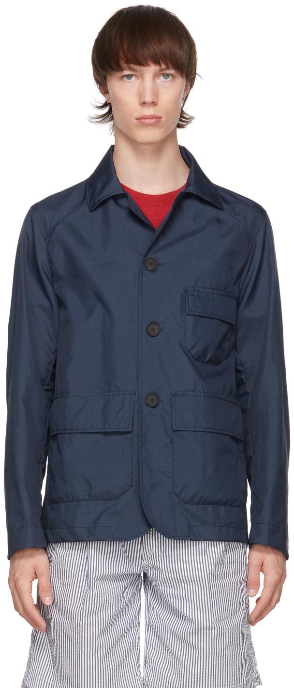 Navy Nylon Aaderbale Jacket