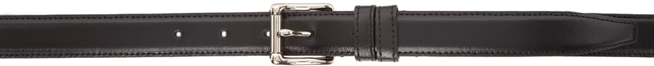 Black Thin Classic Belt