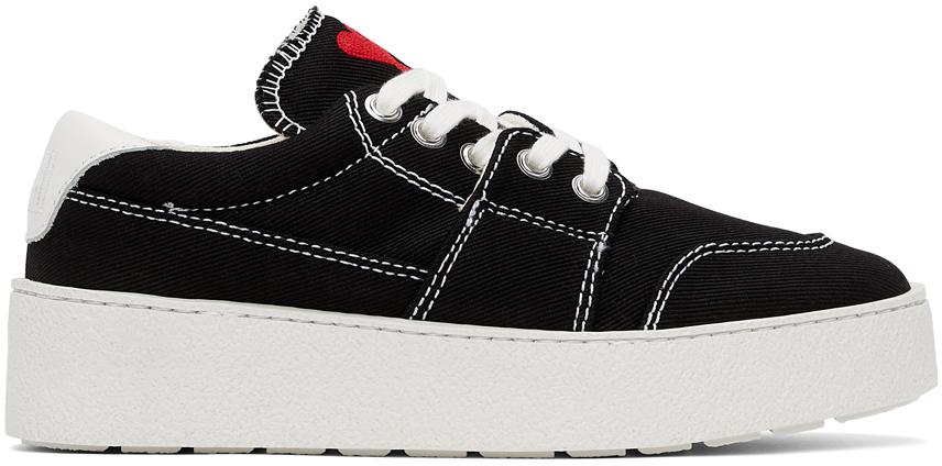 Black Ami de Cœur Low Sneakers