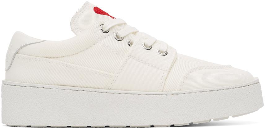 White Ami de Cœur Low Sneakers