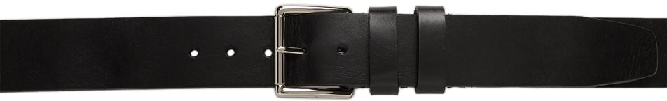 Black Wide Double Loop Belt