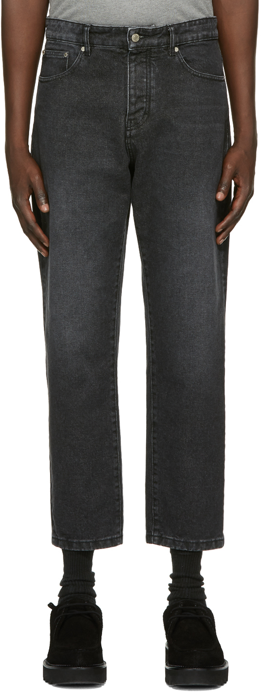 Black Tapered Fit Jeans