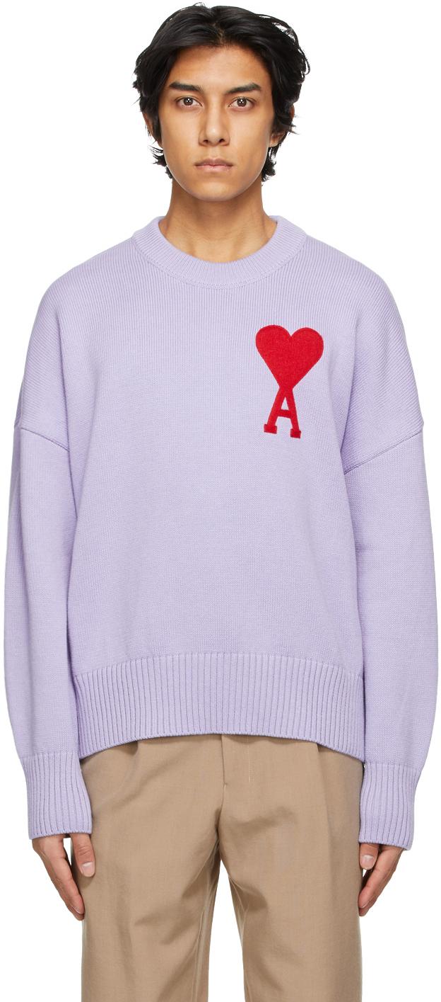 AMI Alexandre Mattiussi 紫色 Ami De Coeur 大廓形毛衣