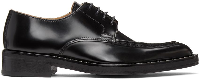 Black Pointed Toe Derbys