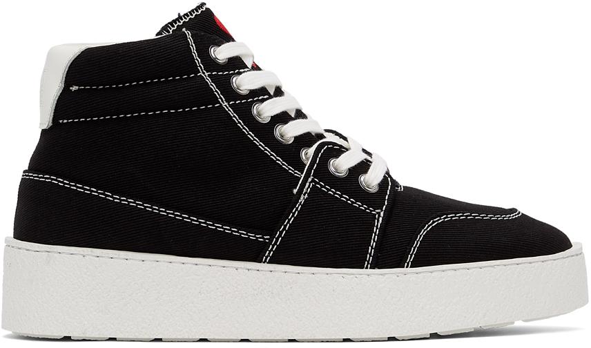 Black Ami de Cœur High Sneakers