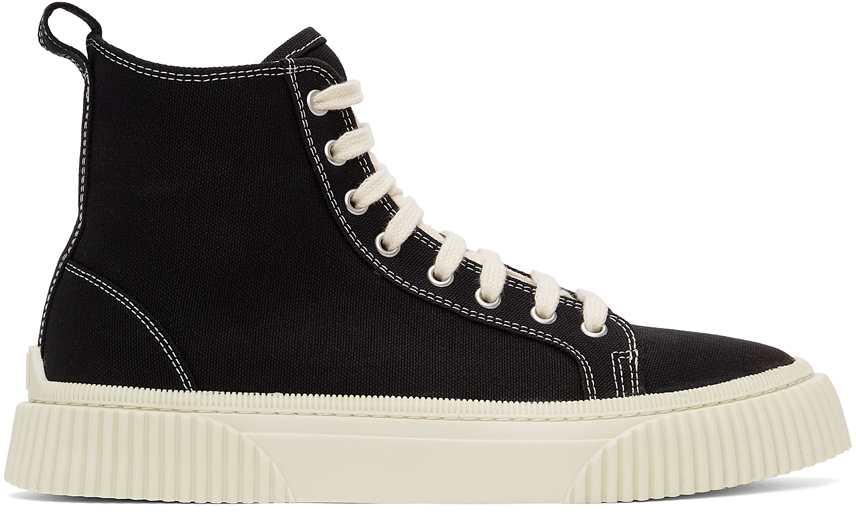 Black Canvas High Sneakers
