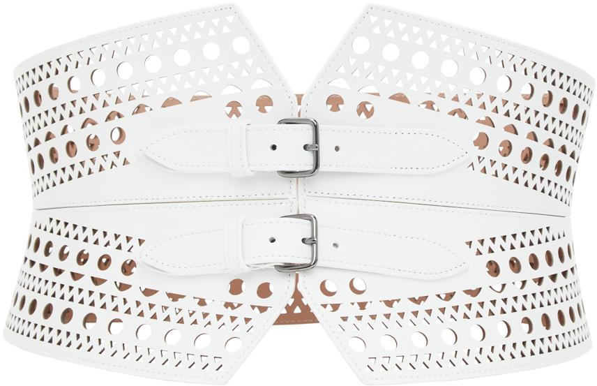 White Vienne Openwork Corset Belt