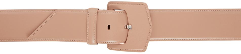 Beige Oversized Flat Buckle Belt