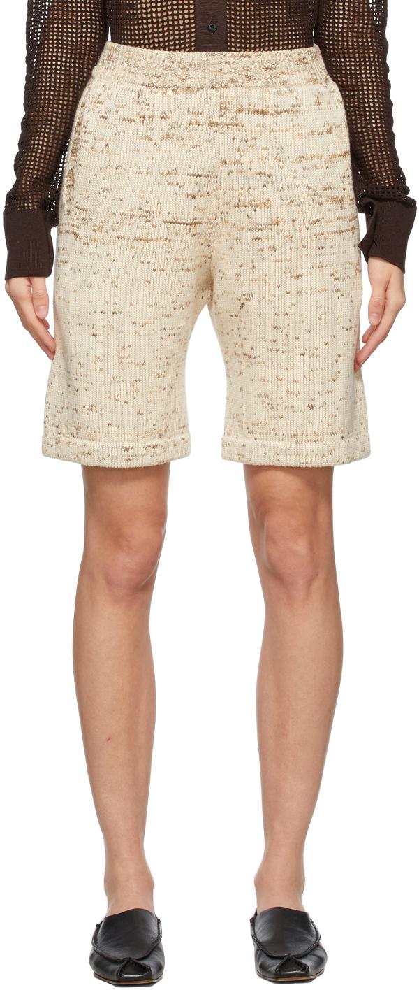 Beige Super Fine Dyed Shorts