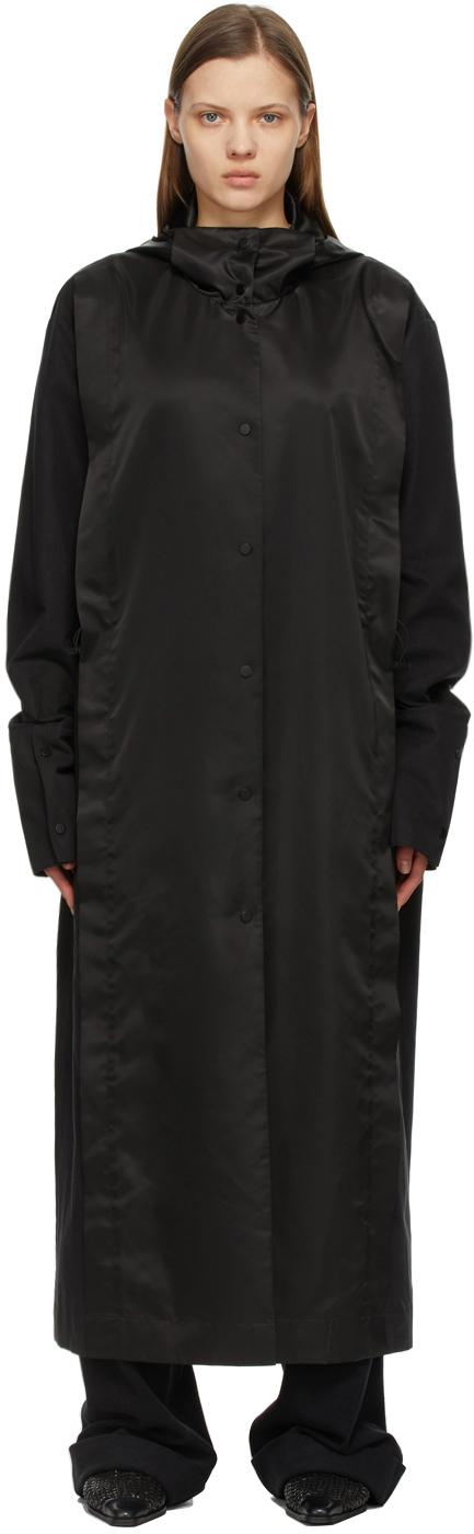 Black Paneled Coat