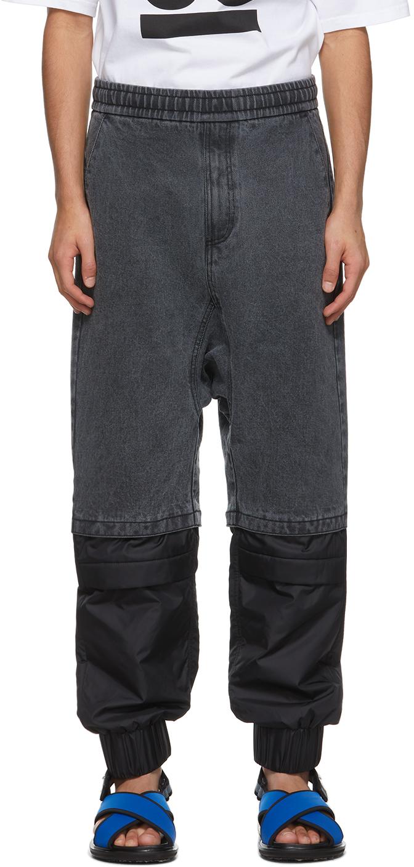 Black Paneled Jeans