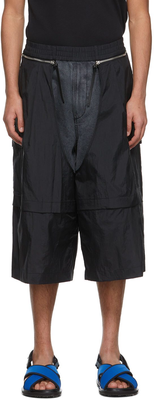 Black Detachable Shorts