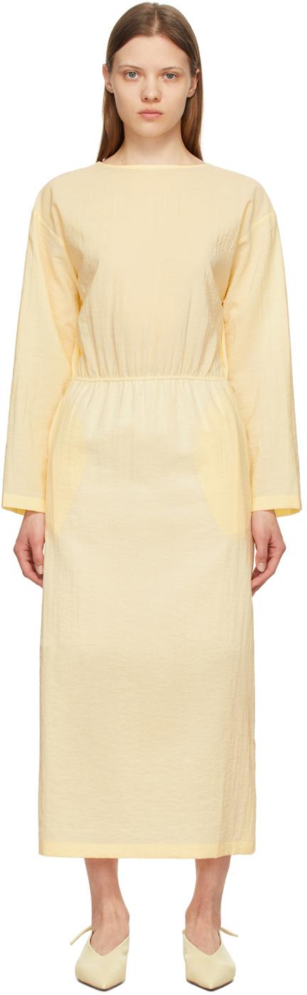LE17SEPTEMBRE Yellow Back Wrap Dress