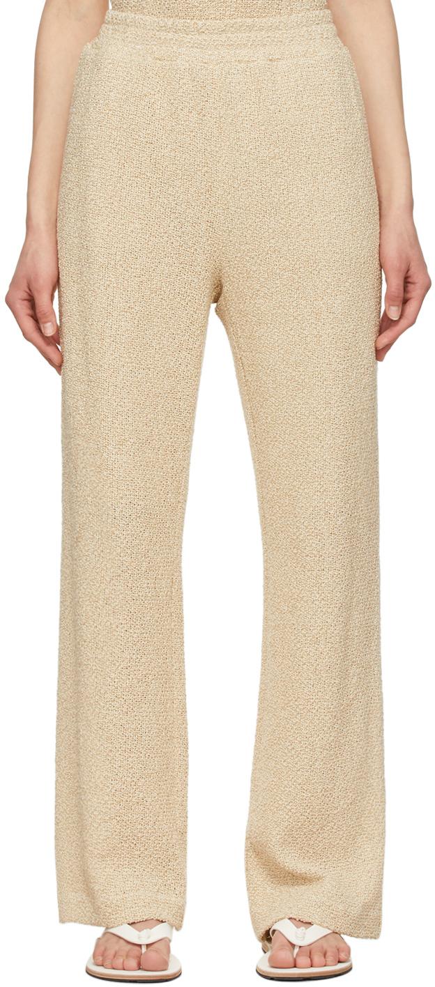 LE17SEPTEMBRE Beige Linen Easy Lounge Pants