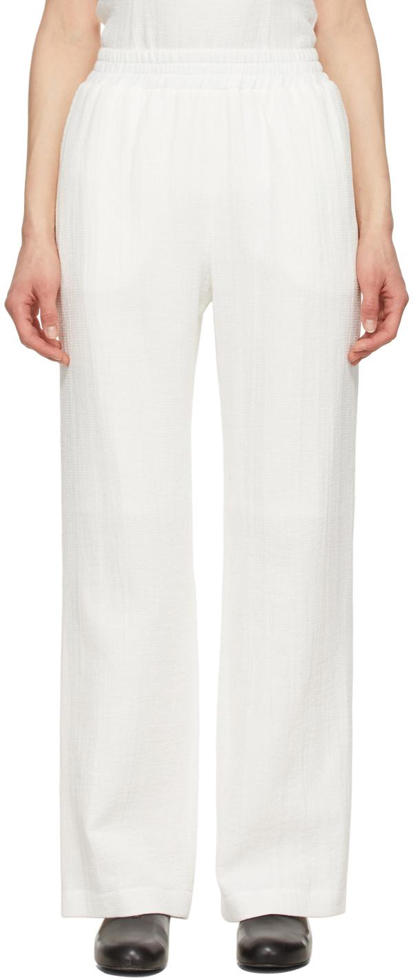 LE17SEPTEMBRE White Cotton Easy Lounge Pants