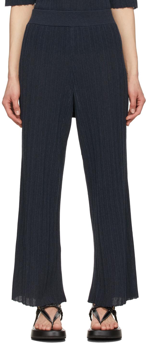 LE17SEPTEMBRE Navy Wrinkle Lounge Pants
