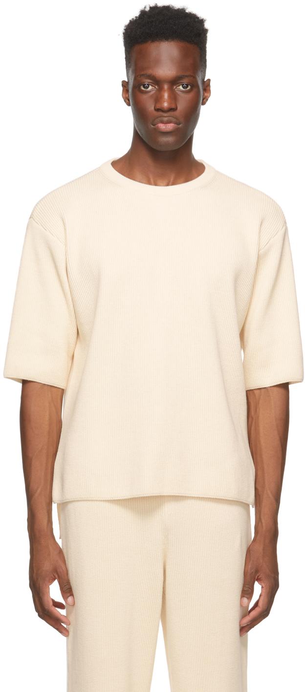LE17SEPTEMBRE Off-White Knit T-Shirt