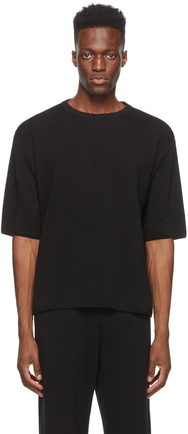 LE17SEPTEMBRE Black Knit T-Shirt
