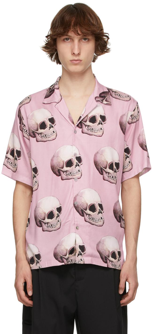 Pink Skull Short Sleeve Shirt