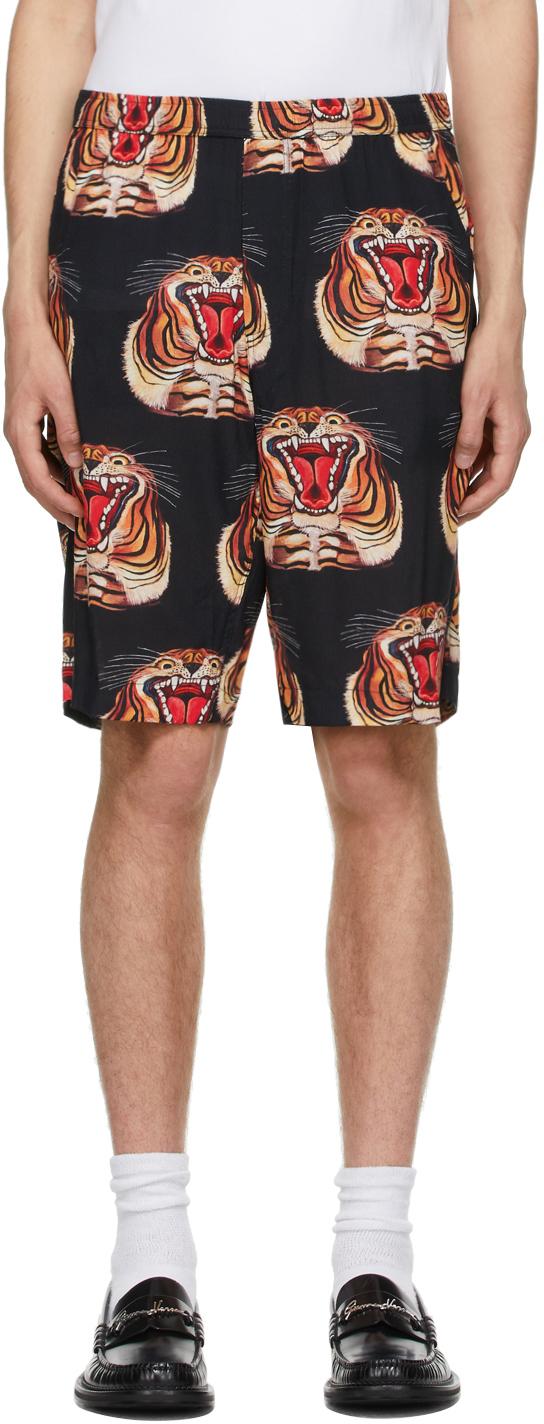 Black Tigre Shorts