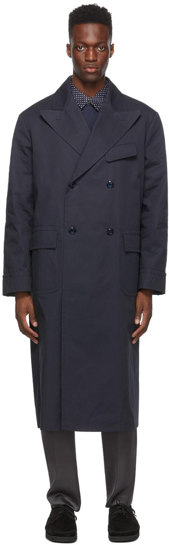 4SDESIGNS Navy Morning Coat 211501M176027