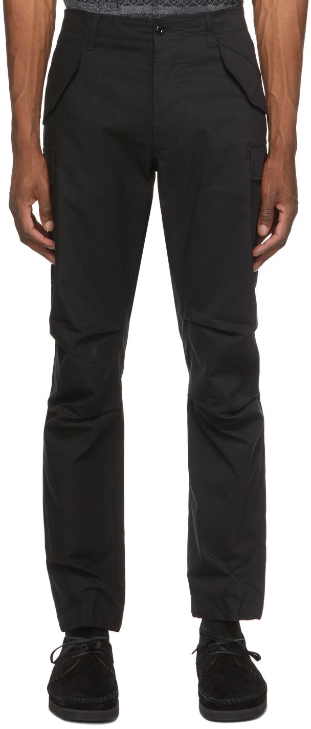 4SDESIGNS Black Combo Cargo Pants 211501M188010