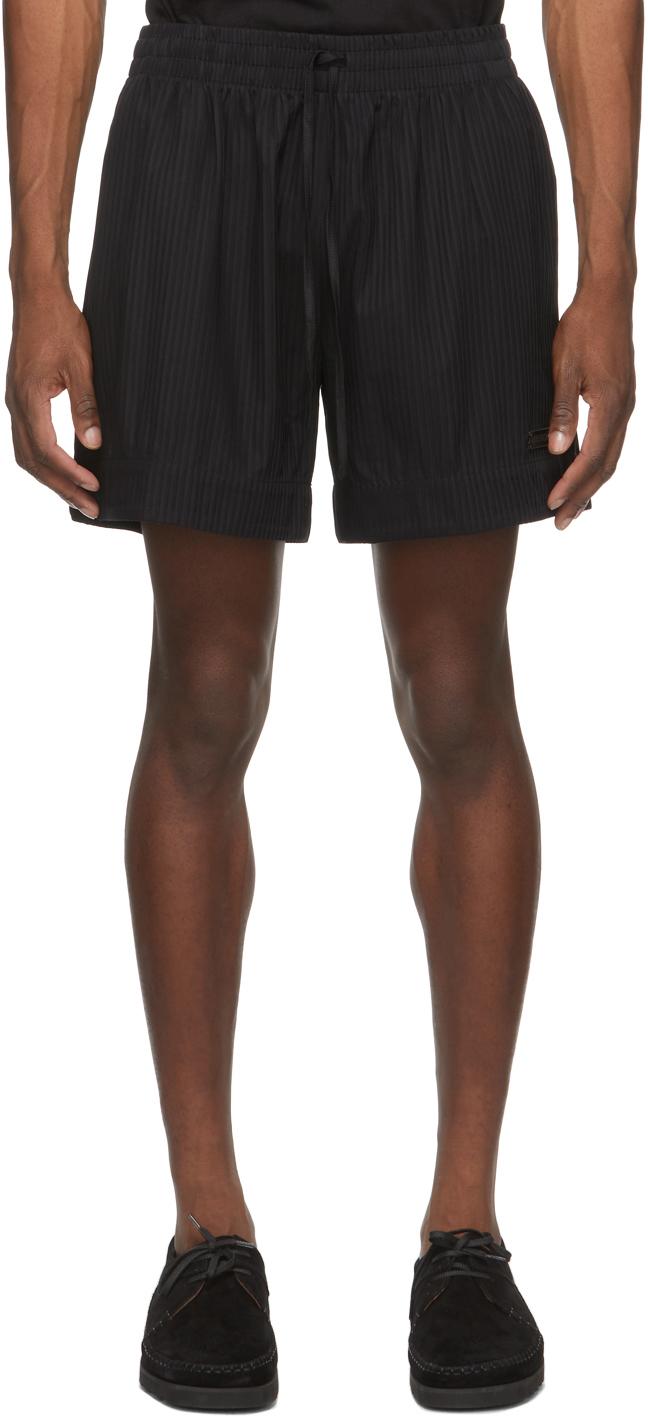 4SDESIGNS Black Activity Shorts 211501M193011