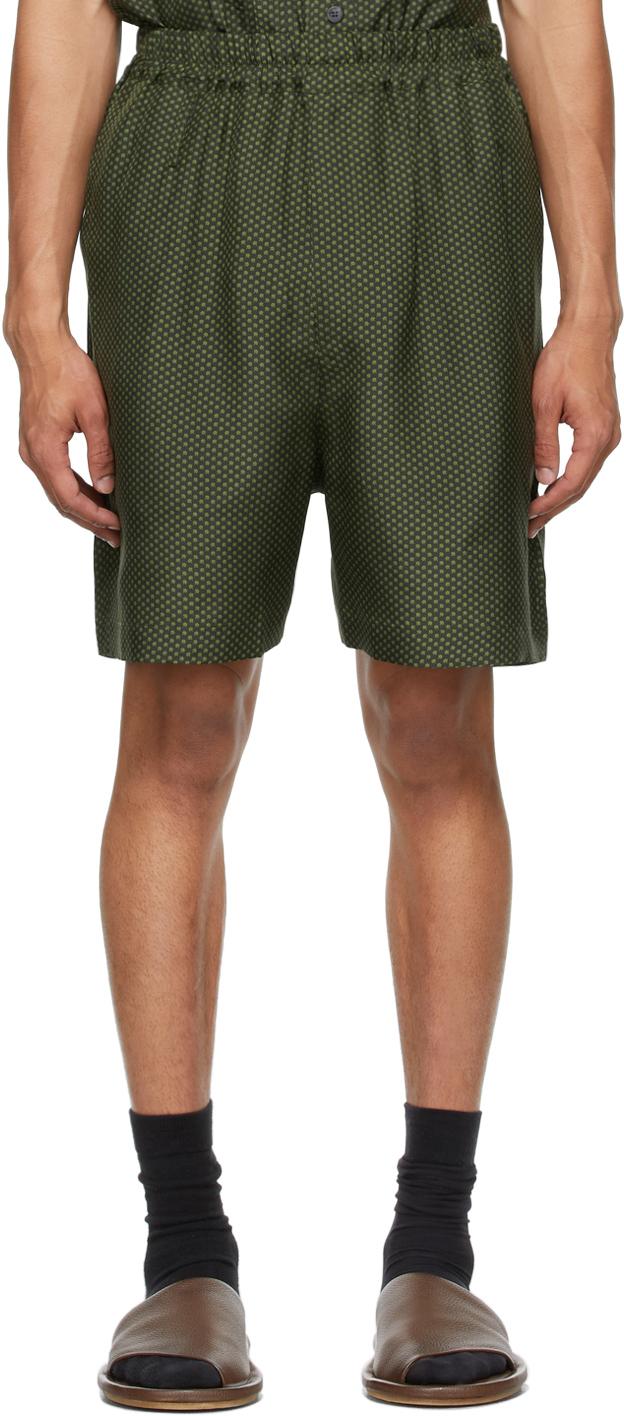 Green Silk Blaze Shorts