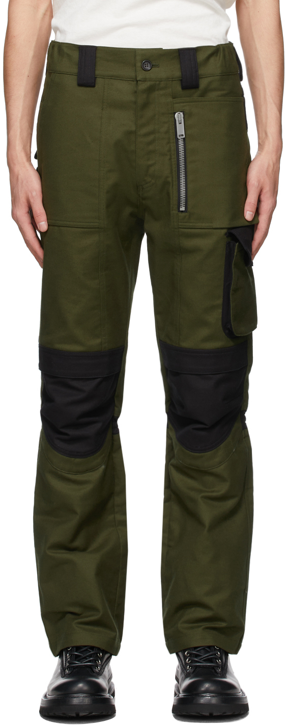 SSENSE Exclusive Khaki & Black Utility Cargo Pants