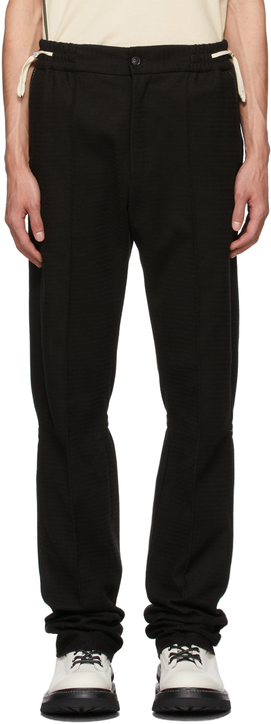 ADYAR Black Knit Trousers