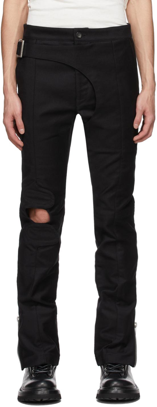 SSENSE Exclusive Black Brace Trousers