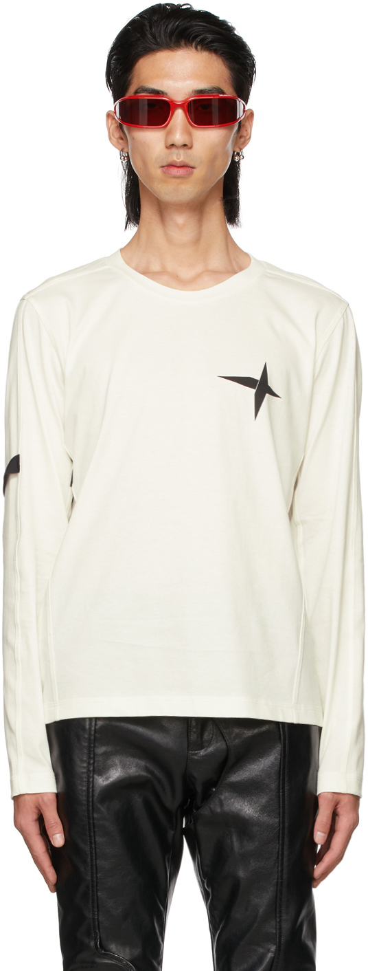 Adyar Ssense Exclusive White Armband Long Sleeve T-shirt In Lt Ivory