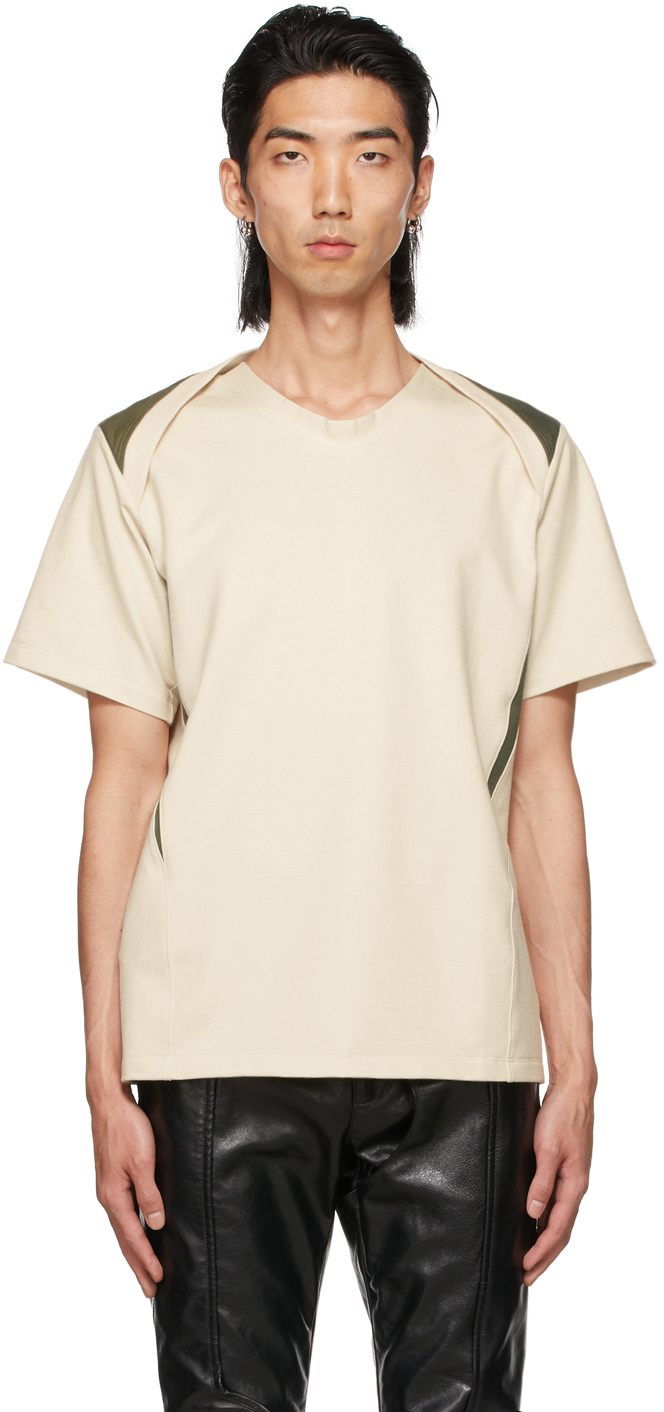 SSENSE Exclusive Off-White & Green Clementi T-Shirt