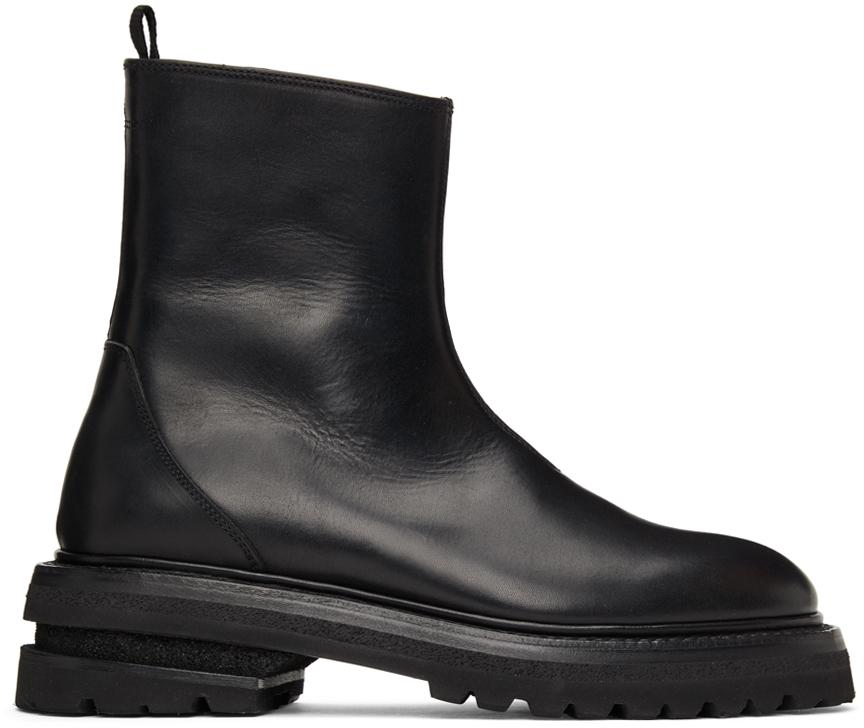 SSENSE Exclusive Black Zip-Up Boots