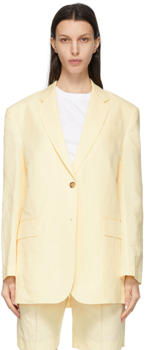 Yellow Linen Boy Blazer