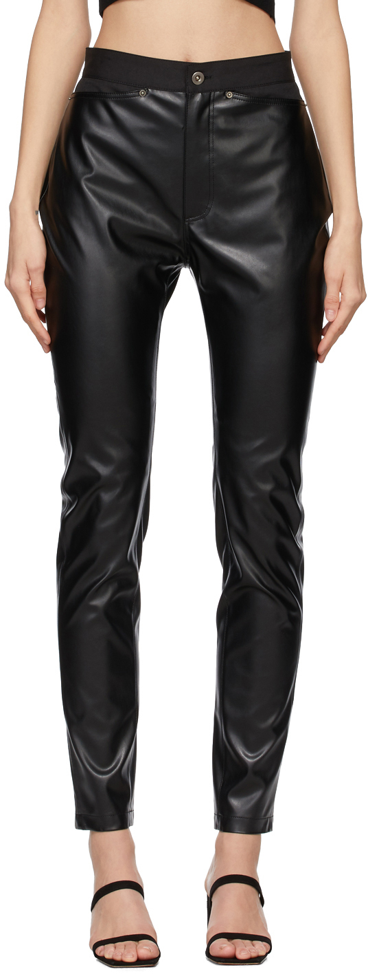 Black Faux-Leather Legging Trousers