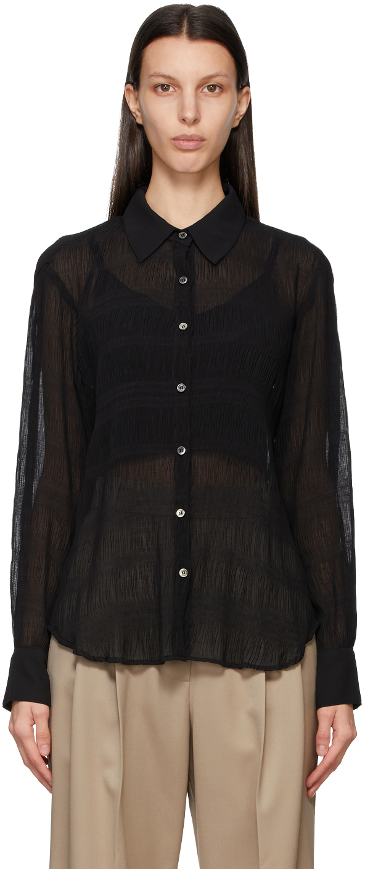 Black Shirring Shirt