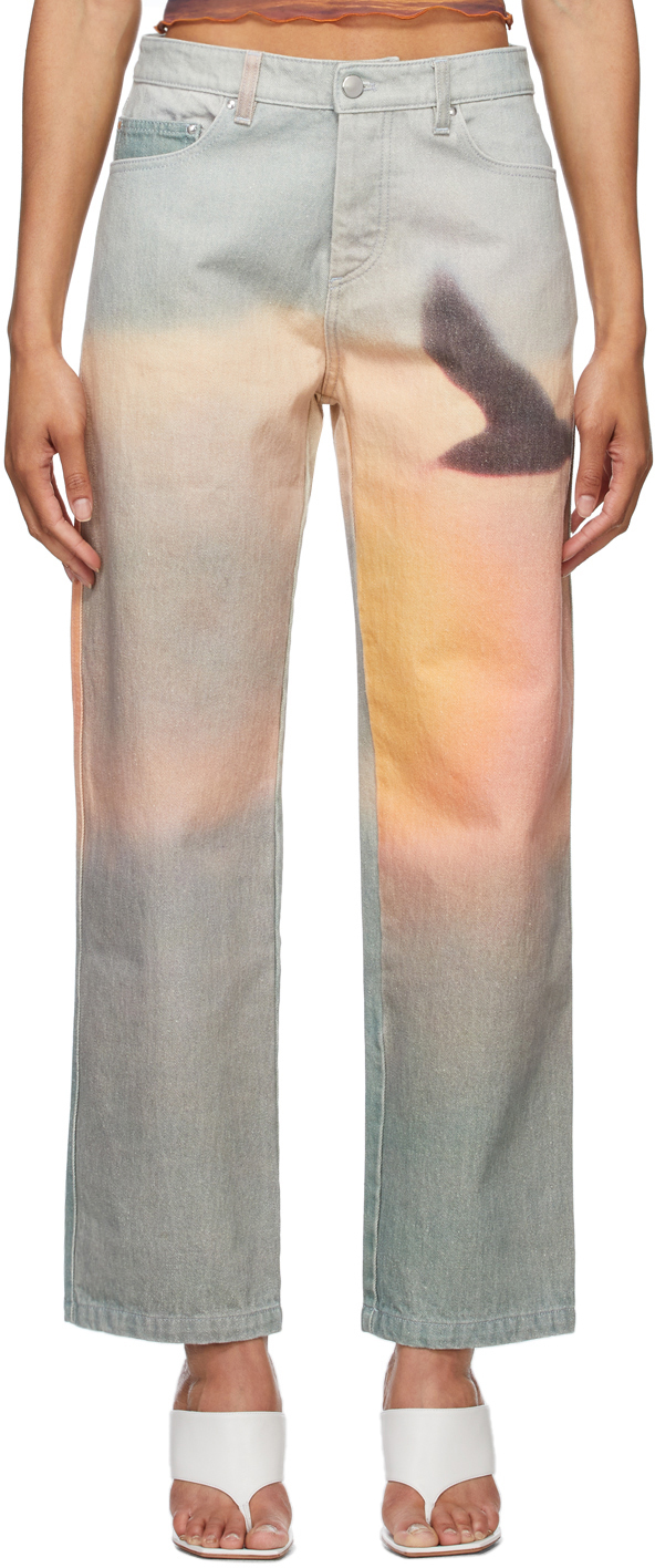 PRISCAVera 多色印花牛仔裤