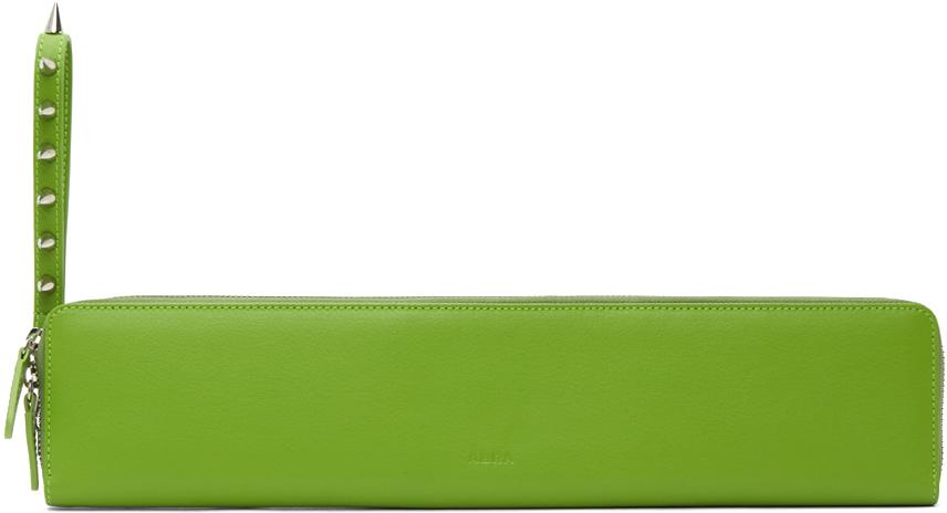 Abra Green Baguette Wallet Clutch 211526F044000