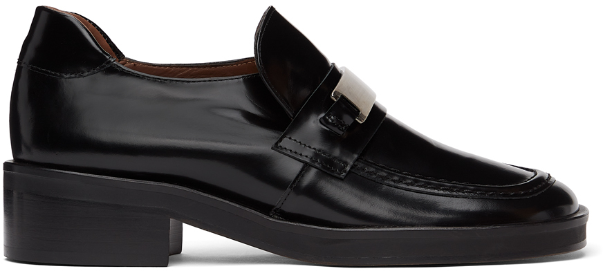 Abra Black Plate Loafers 211526F121000
