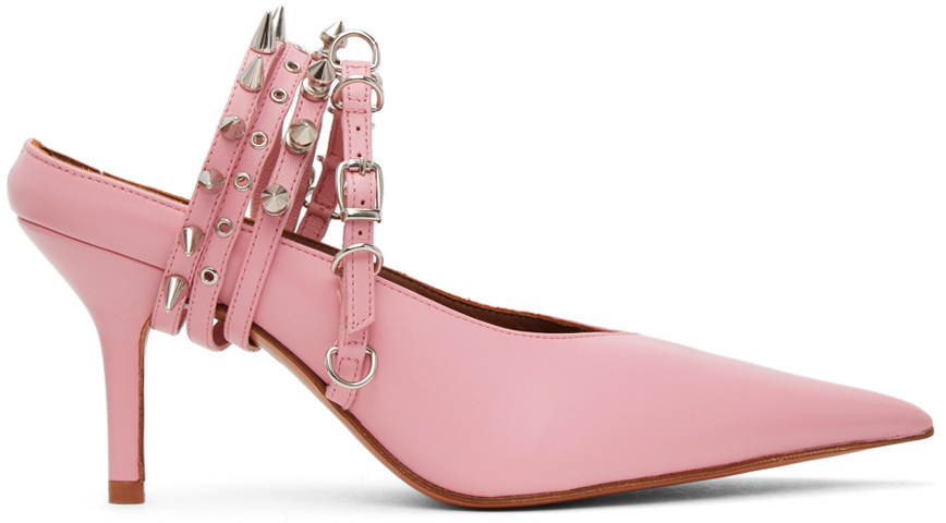 Pink Spike Mules