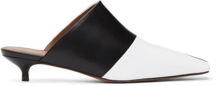 Abra White Black Lord Mules 211526F122007