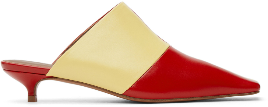 Abra Red Yellow Lord Mules 211526F122008