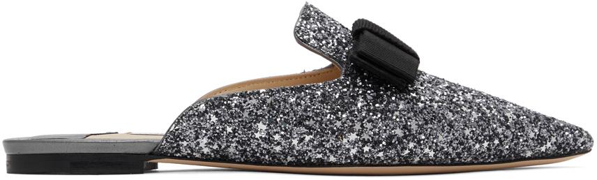Jimmy Choo SSENSE 独家发售多色 Galaxy Star 亮片平底鞋