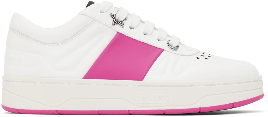 White & Pink Hawaii Sneakers