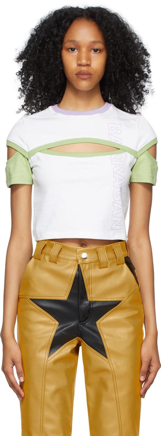 SSENSE Exclusive White & Green Brazos T-Shirt