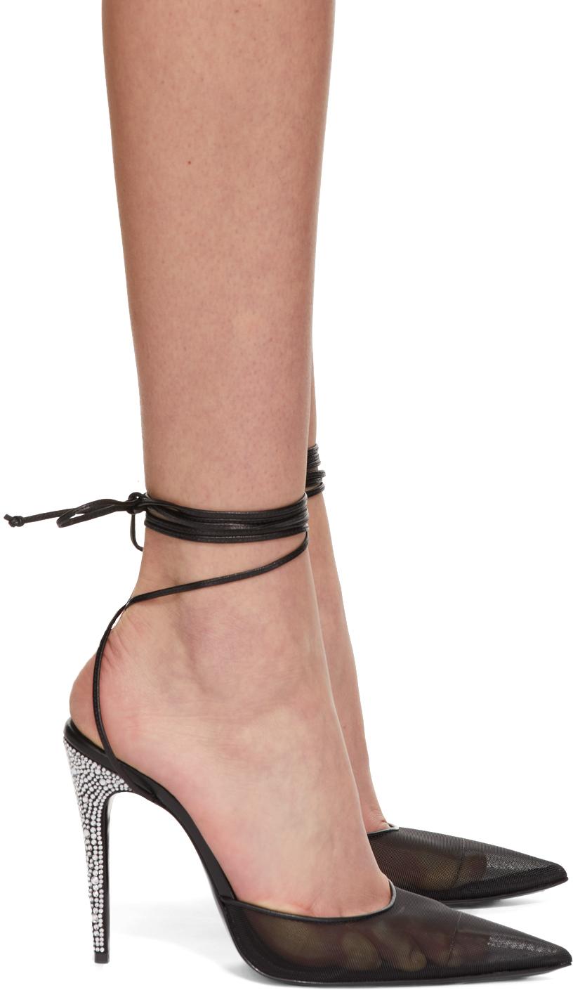 Black Thin Strass Heels