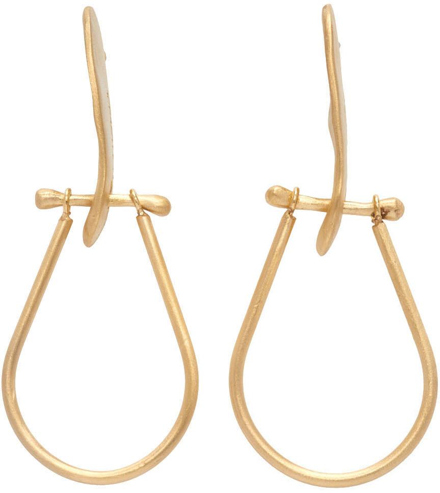 1064 Studio Gold Shape Of Water 07E Earrings 211537F022007