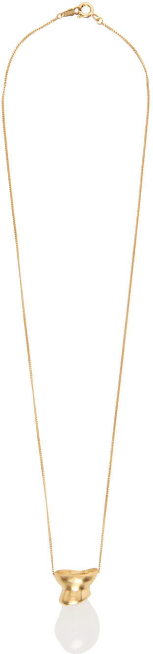 1064 Studio Gold Shape of Water 21N Necklace 211537F023013